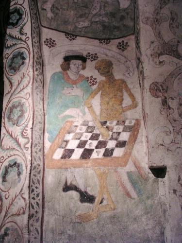 Bergman, Albertus Pictor, échecs, mort