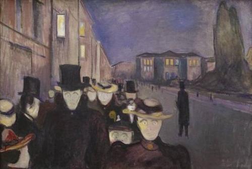 strindberg,edward munchSoirée sur l'avenue Karl Johan